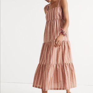 Madewell Seamed Striped Midi Dress